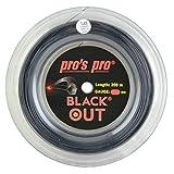 PROS PRO Black Out Corde de Raquette de Tennis - 200m Bobine - 1.28mm - Noir