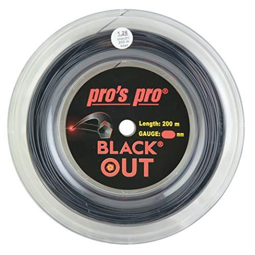 P3 International Pros Pro Black out Cordaje de Tenis - 200m
