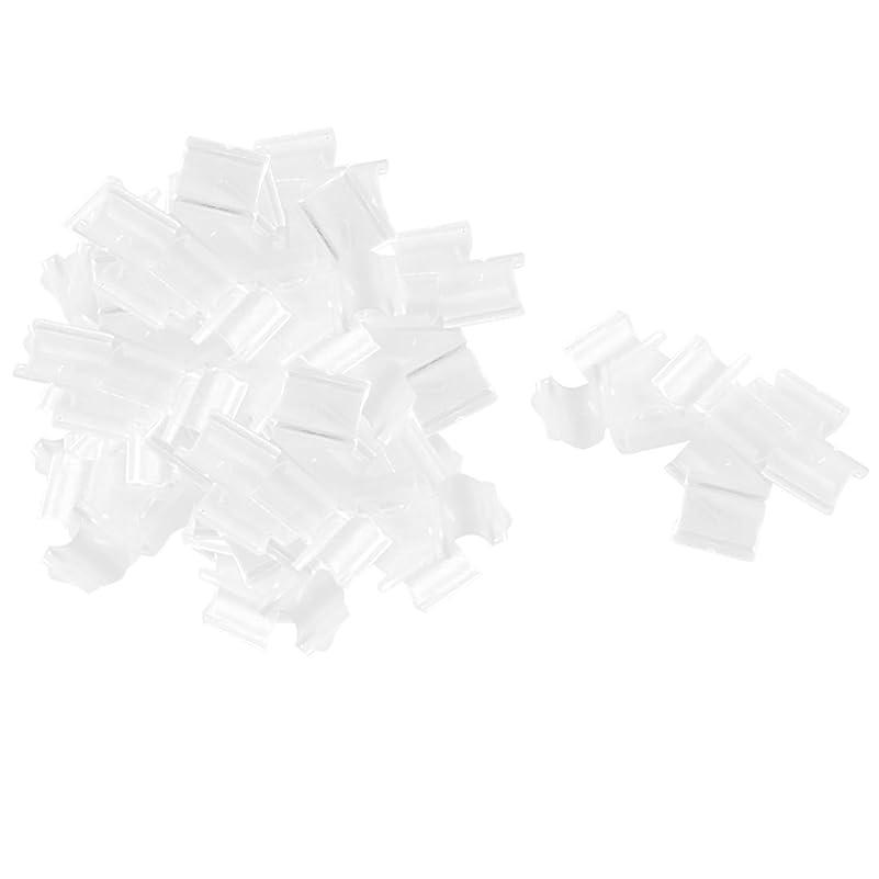 社会ドアギャラリーuxcell ロープバックル プラスチック製 クリア ヘアサイクルバックル 200個入り