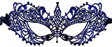 Luxury Mask Women's Stunning All Navy Lace Masquerade Mask Ana
