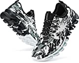 BRONAX Gym Shoes for Men Sport Lace Up Casual Size 11 Baseball Running Athletic Sports Fitness Cushion Indoor Tennis Snickers Shoes Sneakers Camouflage Green 46