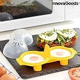 InnovaGoods IG815769 Cuecehuevos Doble de Silicona Oovi
