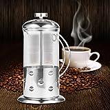 Kaffeemaschine Kaffee in Borosilikatglas mit Fruchtpresse Kaffeemaß, Edelstahl 304Stianless 600 ml