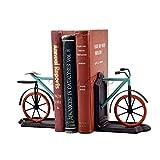 Kunst-buchstützen,Office Desktop-buchstützen Buchstützen Dekoration Kreativ Metall Fahrrad Buchstützen Für Regale Lustig Gelten Für Kommode Zähler Regal Büros
