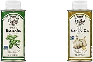 La Tourangelle, Basil Infused Sunflower Oil, 8.5 fl oz & Garlic Infused Sunflower Oil, 8.5 fl oz