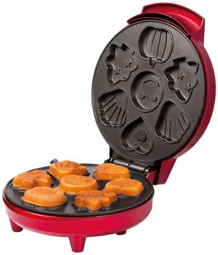 Trebs 99257 Cookie Automat für schmackhafte und saftige Cookies - Waffeleisen - Waffelautomat - 700 Watt - Anti-Haft beschichtet - Rot
