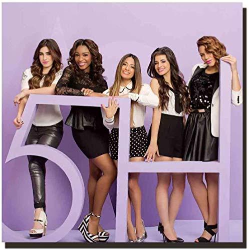 Fifth Harmony Girl Star Actress Music Star Álbum Art Póster Impresión en lienzo Imágenes para la sala de estar Ilustraciones Imágenes de la habitación Decoración para el hogar Regalo único -60x60