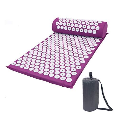 Massager Kussen Acupunctuur Sets Neutraal Stress Rugpijn Acupressuur Mat / Kussen Massage ABS Spike Yoga Kussen Paars