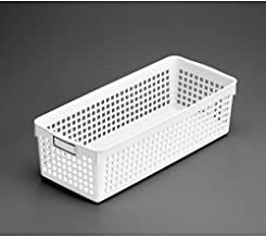 Inomata 4585 Name Long Basket, White