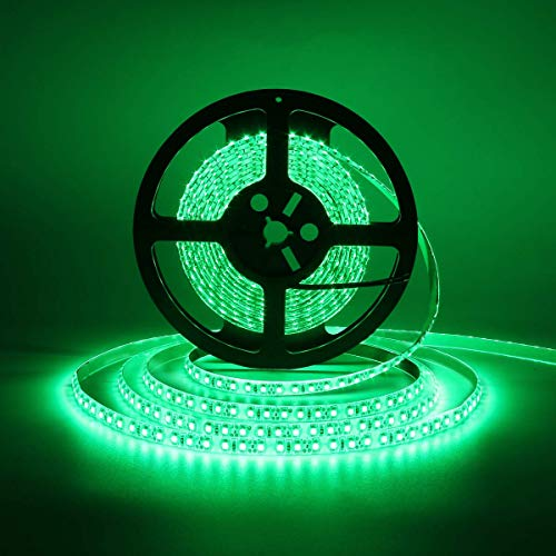 600 LEDs Light Strip Waterproof, SUPERNIGHT 16.4FT Green LED Rope Lighting Flexible Tape Decorate for Bedroom Boat Car TV backlighting Holidays Party (Green)
