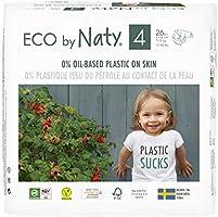 Eco by Naty, Taglia 4, 156 pannolini, 7-18kg, fornitura di UN MESE, Pannolino eco premium a base vegetale con lo 0% di...