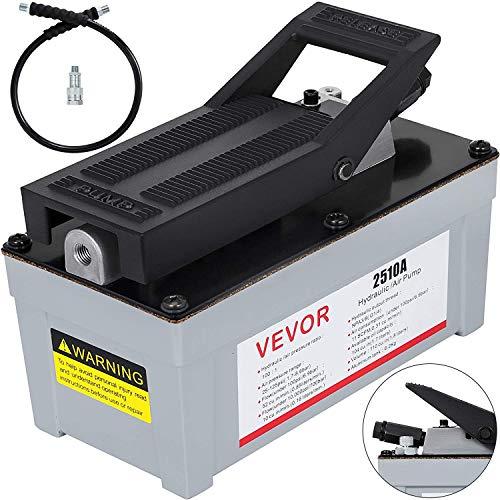 VEVOR 2510A Air Powered Hydraulic Pump 10,000 PSI Quick Power Air Foot Pedal Pump