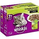 Whiskas 7 + Katzenfutter – Hochwertiges Nassfutter für Katzen ab 7 Jahren und älter – Für die Bewahrung der Vitalität – Portionsbeutel à 100g, verschiedene Sorten