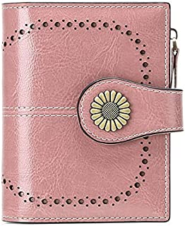 SENDEFN Cartera Mujer Cuero Pequeña Bloqueo RFID Billetera Corta Monedero Mujer con 16 Ranuras para Tarjeta Mujer Carteras...