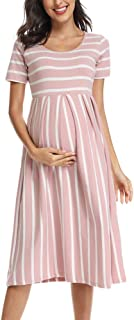 Bbhoping Womens Casual Striped Maternity Dress