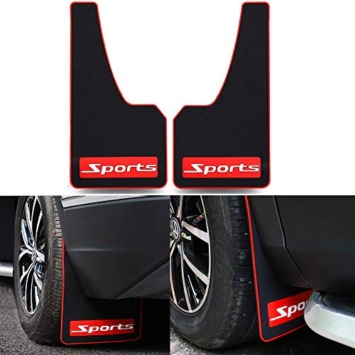 YUNM Universal Car Mud Flaps Rubber Mudguard Splash Guards Rubber Mudguard for Universal Sports Mud Flaps Guards Splash Front and Rear Guards (Sports)
