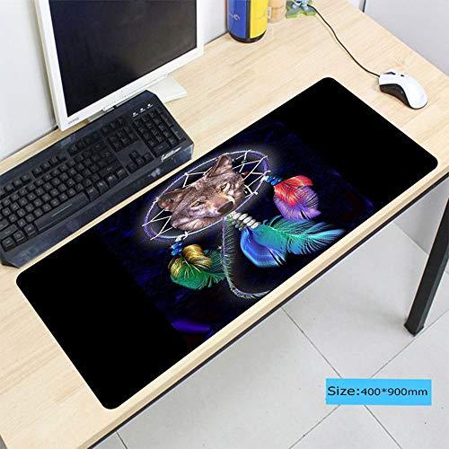 HonGHUAHUI wolf kleurrijk speel-grote muismat PC Computer Laptop muis onderlegger 300x600X2MM A02