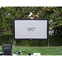 O.E.G. 120 Inch Lite Silver-Infused Projector Screen with Durable, Easy Setup Aluminum Stand