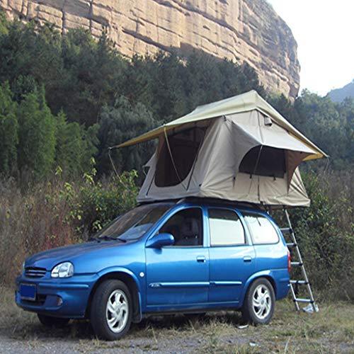 Zelt ADKINC Dachzelt, heißer hohe qualität 1-2 Personen typ und leinwand Stoff Aluminium Pole Material Camping SUV Auto top dachzelt mit markise