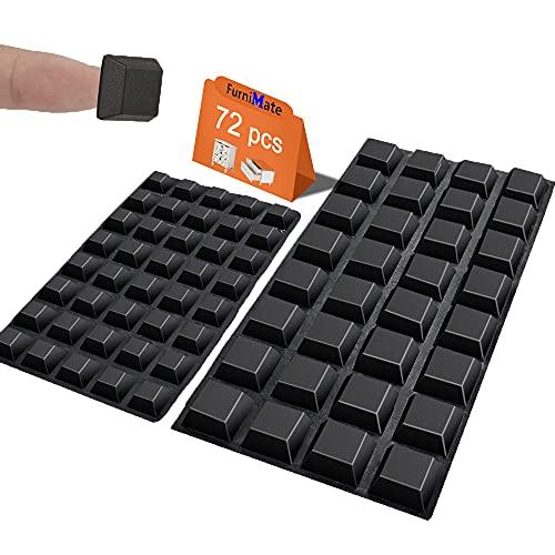 Black Rubber Feet 72PCS Self Adhesive Rubber Feet Black...