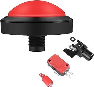 WNSC Botão Arcade Lights plástico e metal Arcade, botão Arcade DC12V 100 mm, acessórios para console de jogos para máquina...