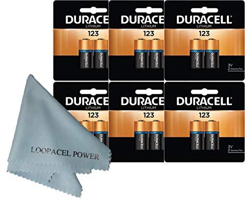 Duracell Lithium CR123A CR123 123A 3V 12 Batteries
