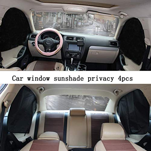 ZATOOTO Car Side Window Sun Shades - 4 Pcs Front Rear Magnetic Privacy SunShades Black Silver SUV Windshield Curtain for Baby Kids