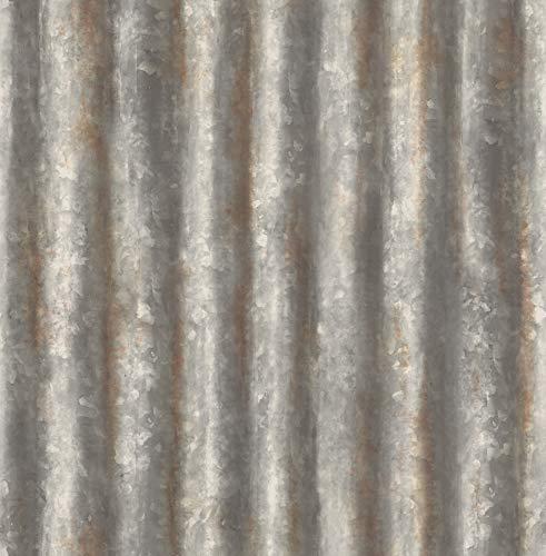 Bhf FD22333, carta da parati'lamiera ondulata di recupero'–color antracite
