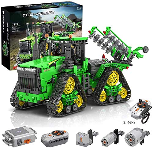 DioMate 1706/pcs Mechanical Engineering Series 1:18 Technician with Remote Control Equipped with All-Wheel Crawler Tractor Model Compatible with Lego Technincs Building Block Toy Set