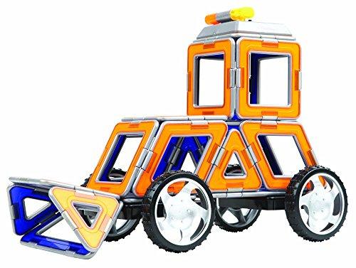 Magformers XL Double Cruiser (42 Piece) Set Magnetic Building Blocks, Educational Magnetic Tiles Kit , Magnetic Construction STEM Toy Set