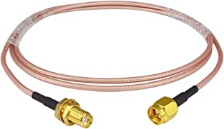 Antennas Signal Enhancer uxcell BNC Bulkhead Female to BNC Male RG316 RF Coax Extension Cable 0.61M//2Ft for Video