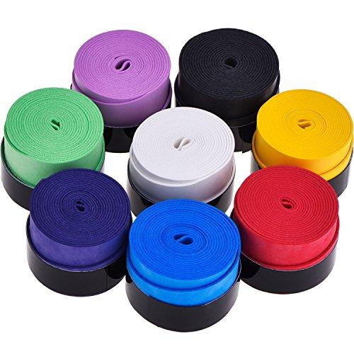 Pangda 8 Stück Tennis Griffband Badminton Schläger Overgrip für Anti Slip und Saugfähigen Griff, Sortierte Farbe