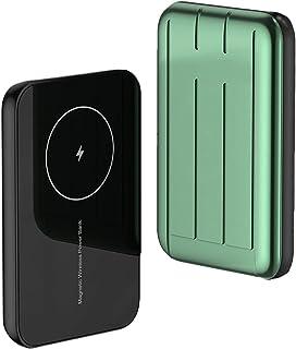 Magnetisk trådlös powerbank bärbar powerbank mini powerbank för obegränsad laddning av mobiltelefoner,Green,10000