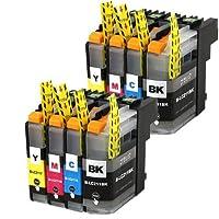 むさしのメディア BROTHER(ブラザー) LC211-4MPx2 (4色セットx2パック) 互換インクカートリッジ ICチップ付き 残量表示対応