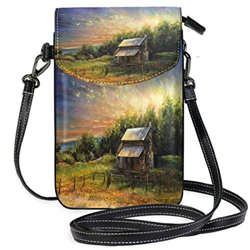 XCNGG Monedero pequeño para teléfono celular Natural Beauty Scenery Nature Cell Phone Purse Wallet for Women Girl Small Crossbody Purse Bags