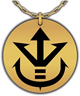 Saiyan Royal Family Symbol - Crest of Vegeta, Dragonball Z Pendant | Gold-Plated Insignia Necklace