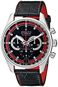 Zenith Men's 032043400.25C Class El Primero Analog Display Swiss Automatic Black Watch Check Prices and Buy NOW!!! and review image