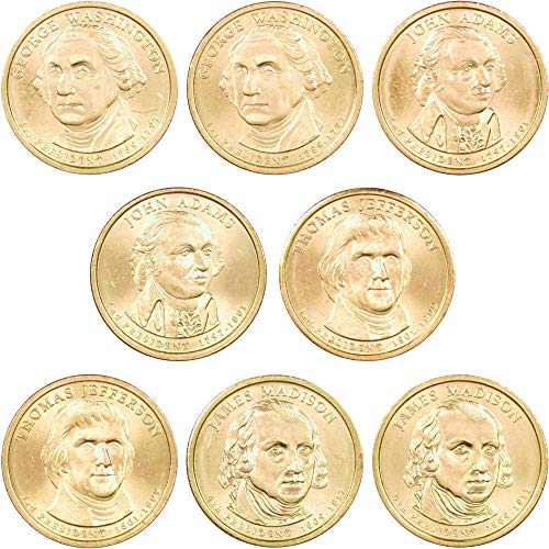 2007 P&D Presidential Dollar 8 Coin Set BU Uncirculated Mint State $1