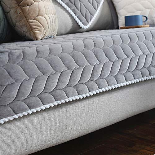 ZQWE 1 Pcs Sofa Überwürfe Sofabezug Couchbezug Sofahusse Sofa Abdeckung, Stuhlüberzüge für Wohnzimmer Sessel Schonbezüge Möbelschoner für Sofas (Gray,70x210cm)