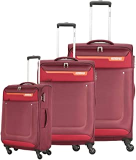 American Tourister Luggage Trolley Bags 3 Pcs, Maroon, Unisex