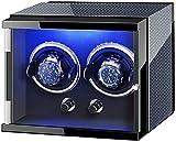 PLMOKN Caja de gordos de Doble Reloj para Reloj automático con Luces de Colores Almohadas Ajustables Almohadas del Motor silencioso Exquisito/D (Color : C, Size : X-Small)
