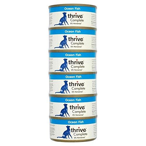 Thrive Katzenfutter mit Seefisch (6x75g) - Packung mit 2