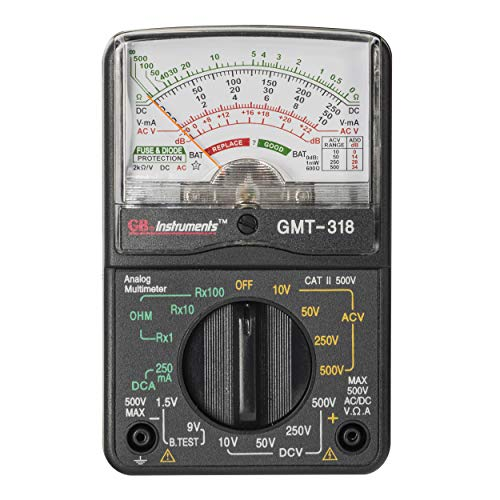 Gardner Bender GMT-318 Analog Multimeter, 6 Function, 14 Range, AC / DC Volt
