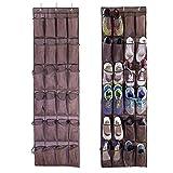 forepin Over The Door Organiser Shoe Storage Bag Zapatero Colgante para Puertas y Armarios Colgar Estantería de Almacenamiento Organizador con 24 Bolsillos Puerta para Unidad de Almacenaje Multi-Capa