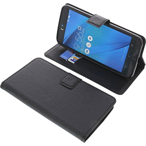 foto-kontor Tasche für Asus ZenFone Selfie ZD551KL Book Style schwarz Schutz Hülle Buch