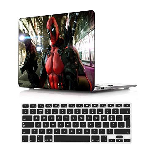 NEWCENT MacBook Pro 13' Retina Funda,Plástico Ultra Delgado Ligero Cáscara Cubierta EU Teclado Cubierta para MacBook Pro 13 Pulgadas Sin CD-ROM/Táctil(Modelo:A1502/A1425),Cartoon 100