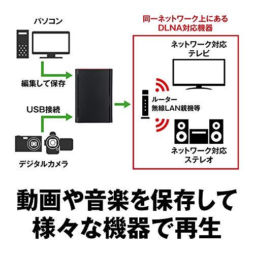 BUFFALONASPC/スマホ/タブレット対応ネットワークHDD6TBLS220D0602N【データを守るRAID1対応モデル】