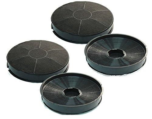 Aktivkohlefilter Typ 30/FAC309 - universell passend für Dunstabzugshauben von AEG, Bauknecht, Whirlpool, Electrolux - Kohlefilter Typ 30 für Umluft - Sparset mit 4 Stück