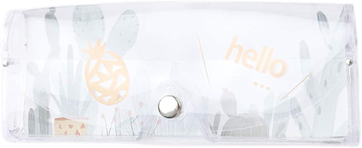 Cabilock Funda de Gafas de Sol Transparente de plástico Bolsa de Gafas Lindas Bolsa Protectora de Gafas para Deportes al Aire Libre (limón)