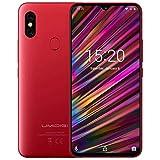 UMIDIGI F1 Smartphone Libres Android 9.0 Teléfono Inteligente Dual SIM 6.3' FHD + 128GB ROM 4GB RAM Helio P60 5150mAh Batería 18W Carga rápida Teléfono móvil con NFC 16MP + 8MP Cámara (Rojo)